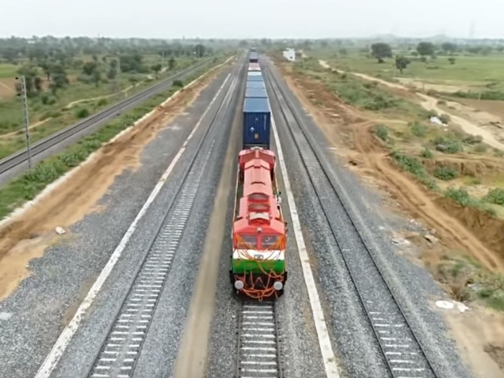 goods train and eastern rail