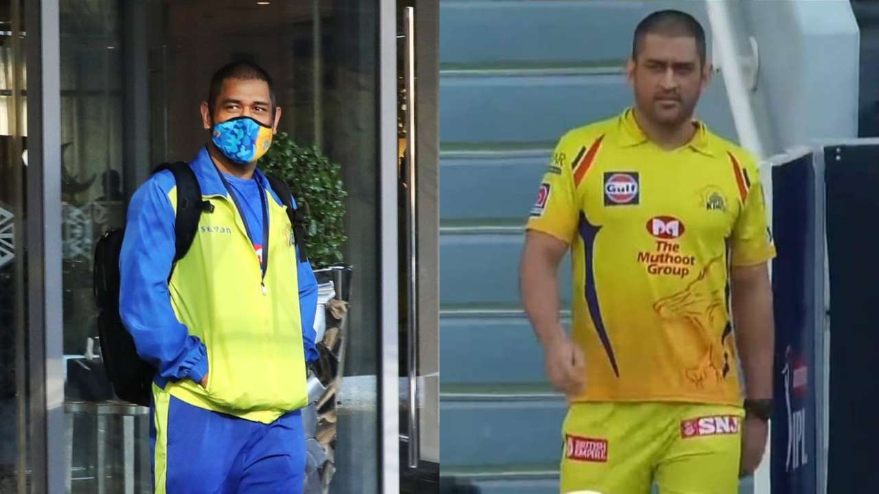 dhoni new look