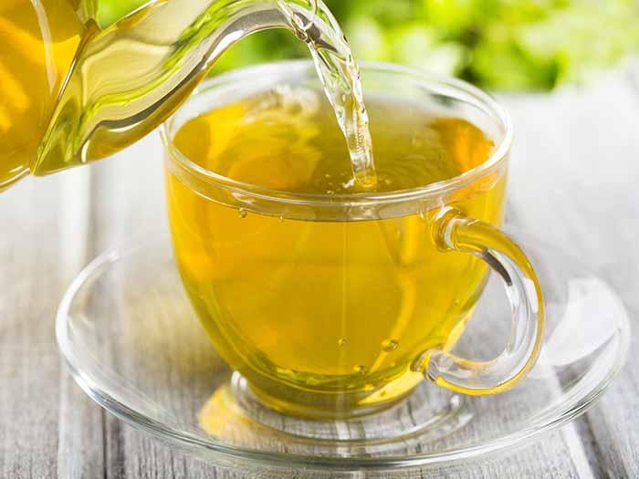 yellow and tea