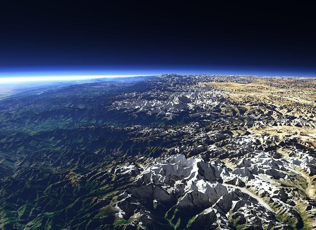 himalayas and space
