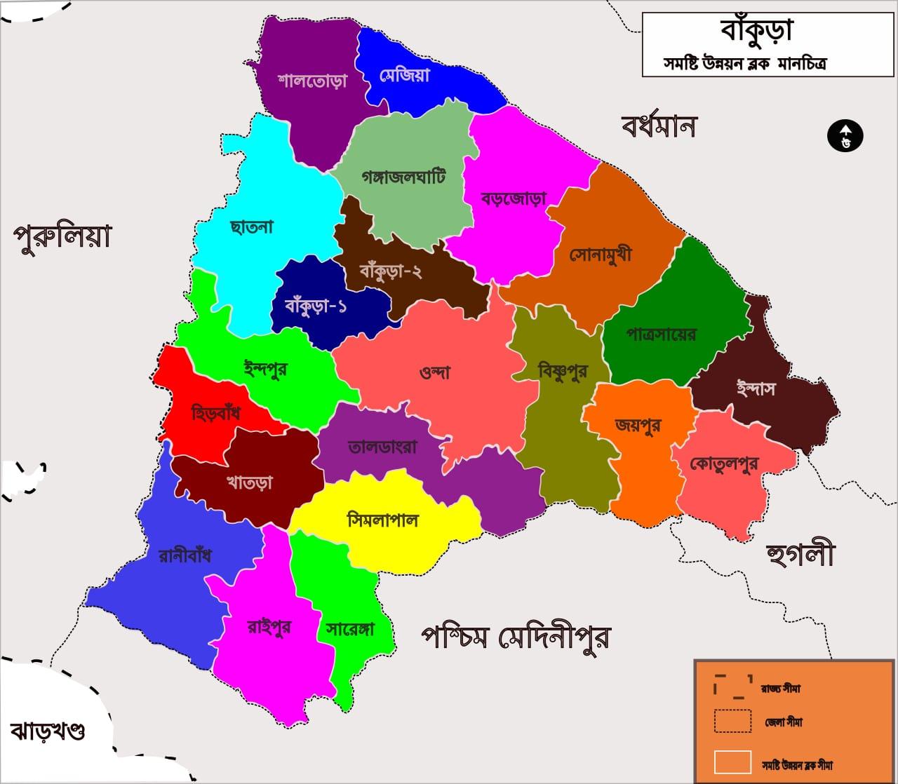 Bankura_Tehsil_map-bn