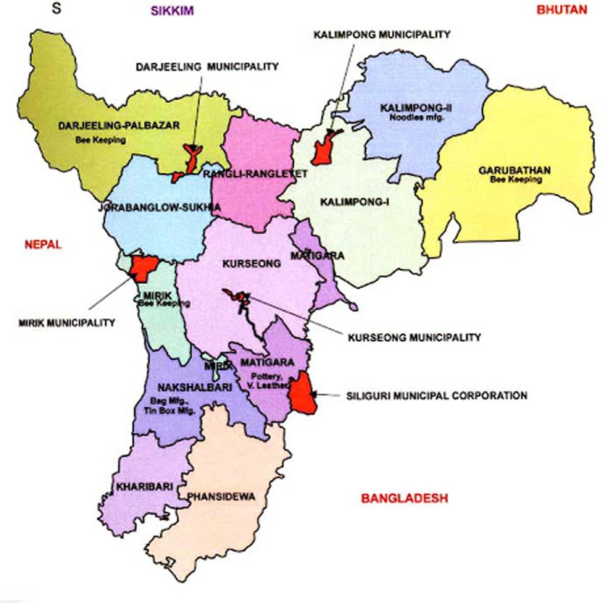 Darjeeling Map-1